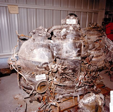 challenger disaster recovery photos challenger explosion recovered engines