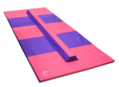 folding beam and mat combo gymnastics beam