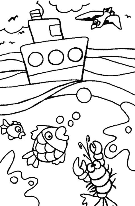 ocean coloring pages for kindergarten coloring pages