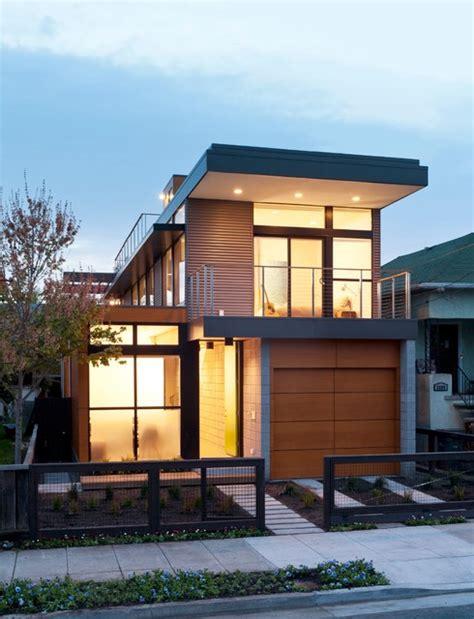 prefab garages Exterior Contemporary with balcony concrete