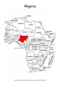Nigeria on map of africa