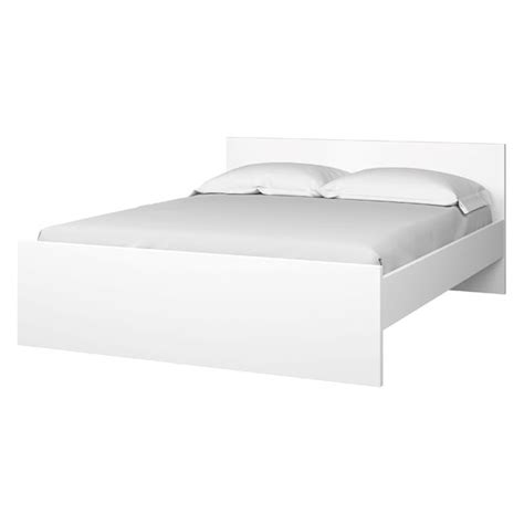 Gloss Bed Frame Naia White High Gloss Bed Frame 160x200cm