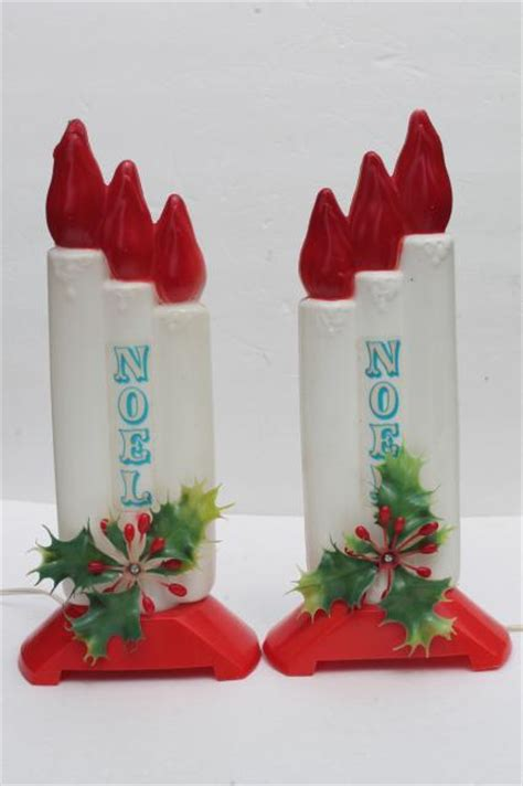 vintage empire plastic blow mold christmas candles