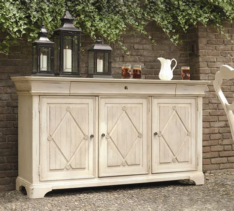 antiqued white sideboard buffet home pinterest