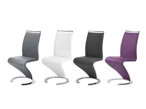 lot de chaises twizy simili m 233 tal chrom 233 4 coloris