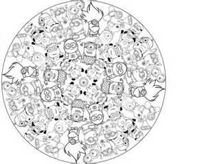 Minion Coloring Pages Mandala Sketch Page sketch template