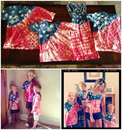 american flag tie dye shirts and crafty