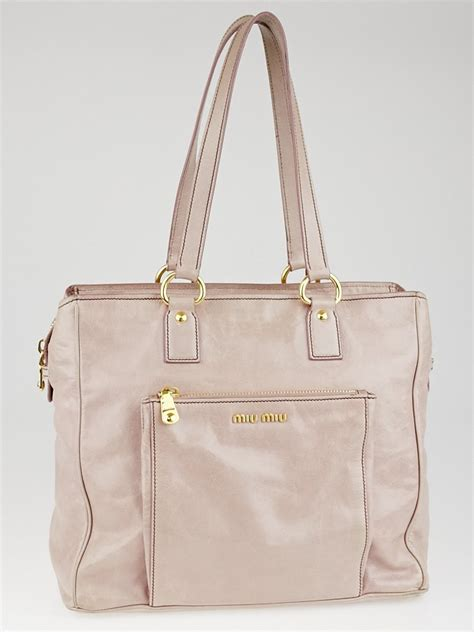 Roys Favs Chanel Purse Miu Miu Bag by Miu Miu Pink Vitello Shine Tote Bag Yoogi S Closet