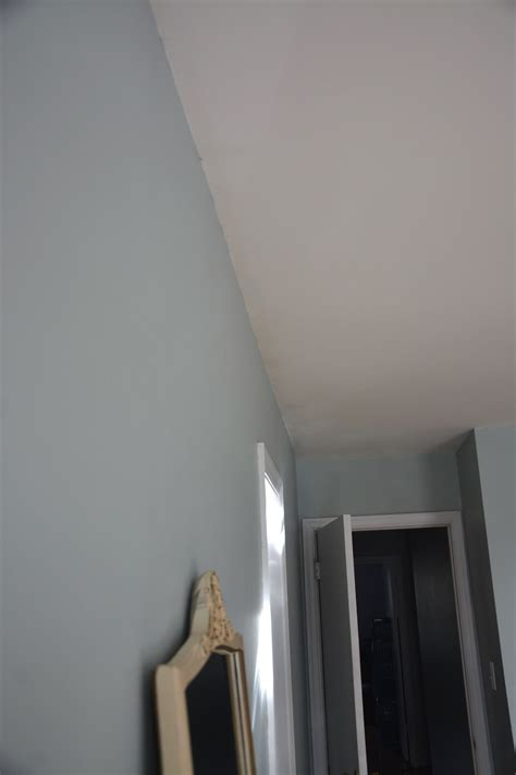how to put up crown molding like a novice moldings dirty ceiling before crown moulding was put up thrift