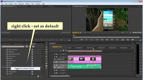 adobe premiere pro video transitions premiere pro cs6 apply transition to all clip youtube