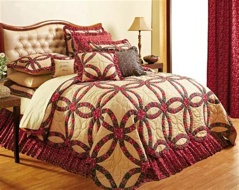 royalton wedding ring primitive country 5pc quilt bedding