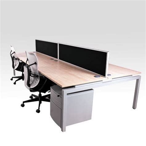 Slim Office Desk by Flex New Slim Bench Desk Silver Space Saving Desk Solution Narrow Bench Desking System