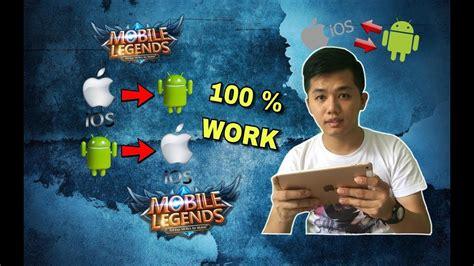 cara pindah akun mobile legend tutorial cara ganti atau pindah akun mobile legends dari