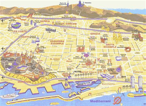 map of barcelona maps of barcelona