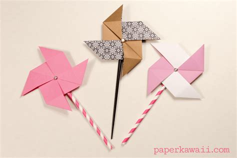 Traditional Origami Models - traditional origami pinwheel tutorial paper kawaii