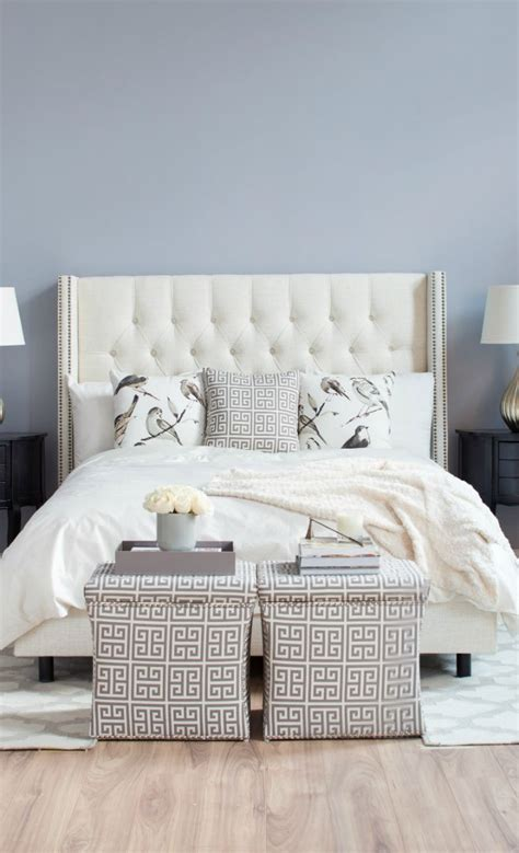 joss and main headboard we love airy neutrals for the bedroom shop the look at