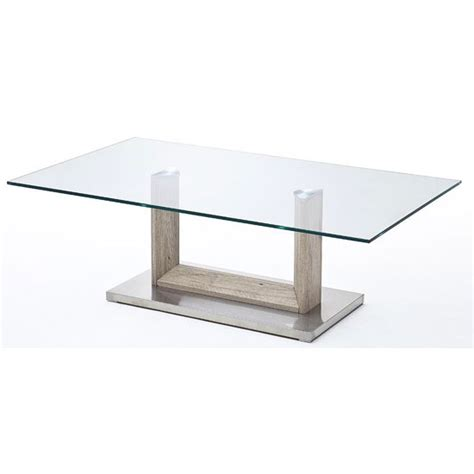 bridget glass coffee table with metal base 24315 furniture