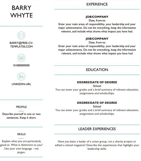Free Dynamic Cv Templates Land The Job With Our Word Templates Free Dynamic Resume Templates
