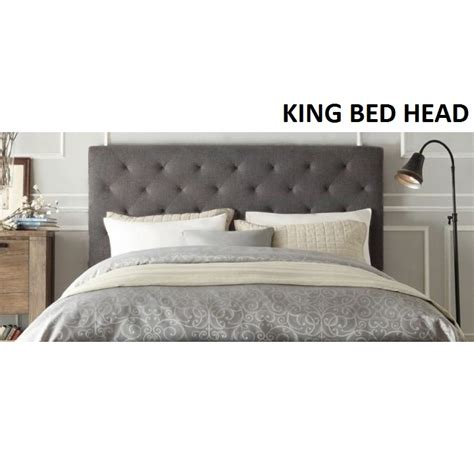 cloth headboards sale chester king size fabric bed headboard in grey buy
