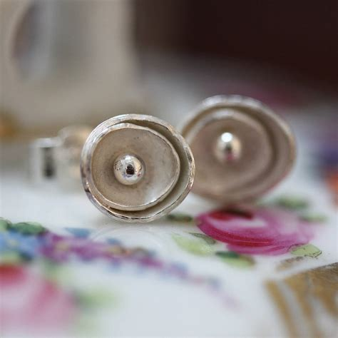 Handmade Sted Jewelry - handmade silver roses stud earrings by jemima lumley