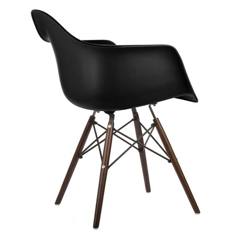 eames armchair eames style daw molded in black plastic dining armchair