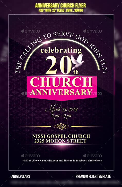 anniversary flyer template free anniversary church flyer graphicriver