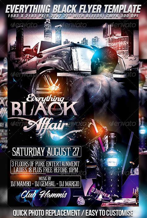 Free All Black Flyer Psd 187 Dondrup Com Black Flyer Template