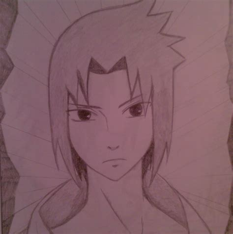 A Drawing Of A by Drawing Anime Images My Draw Of Sasuke Hd Wallpaper And