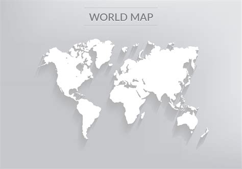 global map vector free free vector world map with shadows free vector