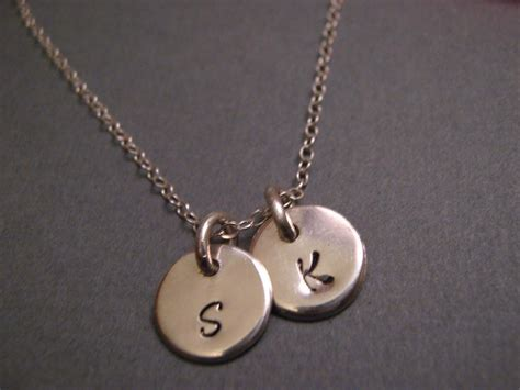 mothers necklace with initials necklace with two initials s day gift sterling silver initials necklace childrens