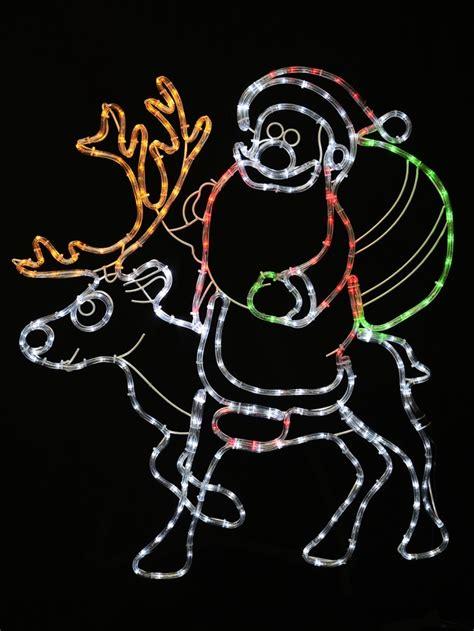 rope light santa santa reindeer rope light silhouette 93cm lights the warehouse