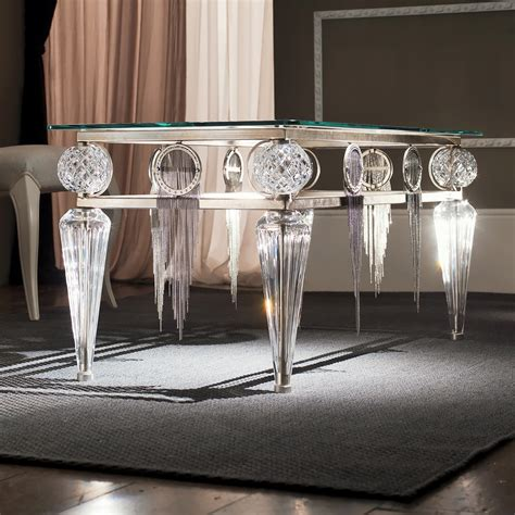 Crystal Vases Uk Swarovski Crystal Silver Leaf Glass Table