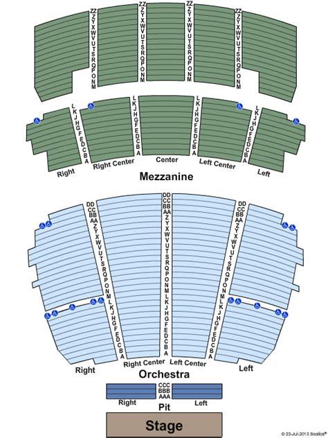 Peabody Opera House Seating by Peabody Opera House Seating Chart