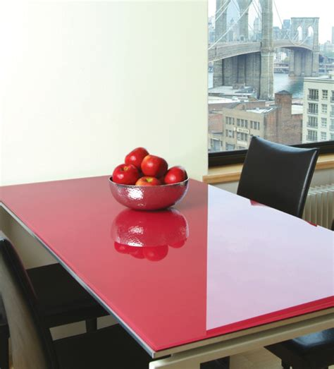 glass table cover coloured table glass black white or ral specific colours