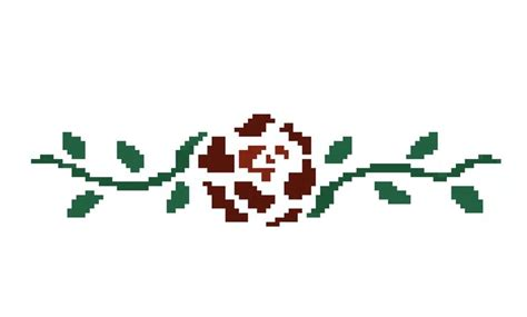 pixel rose cross stitch tattoo pinterest