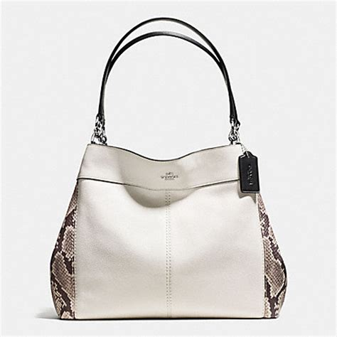 Coach Keisey Snake Embosed coach f57505 lexy shoulder bag with snake embossed