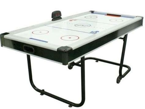 Folding Air Hockey Table Portable Tables Space Saving Air Hockey