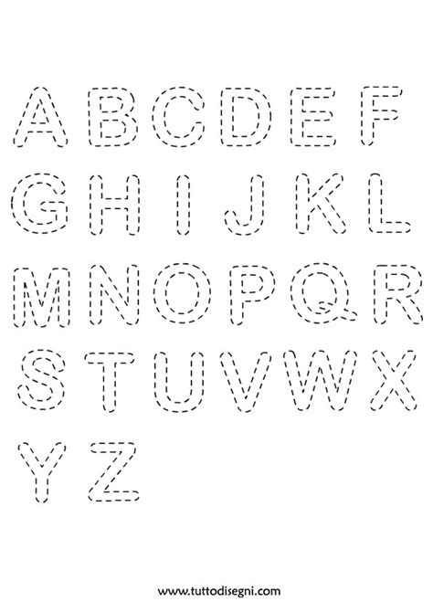 disegni delle lettere dell alfabeto esercizio di pregrafismo lettere dell alfabeto