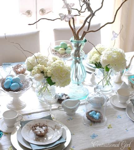 spring tablescape blues and branches tablescape photo from centsational girl