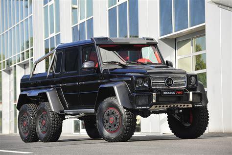 mercedes jeep 6 wheels brabus builds 700hp 6x6 g class mbworld