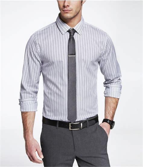 Kameja In Look mens gray shirt with gray vest gray striped dress shirt gray tie gray black belt