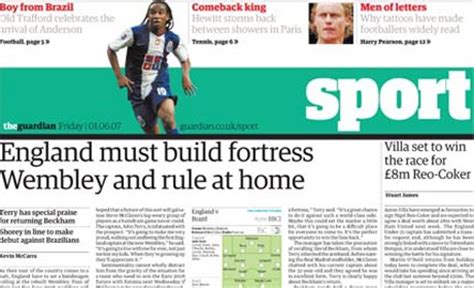sports section of a newspaper guardian to cut daily standalone sport section media news