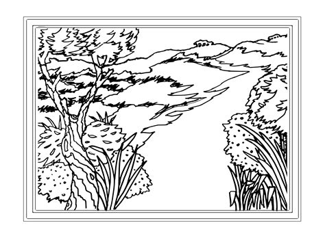 Printable Coloring Pages For Adults Landscapes | free adult coloring pages landscapes az coloring pages