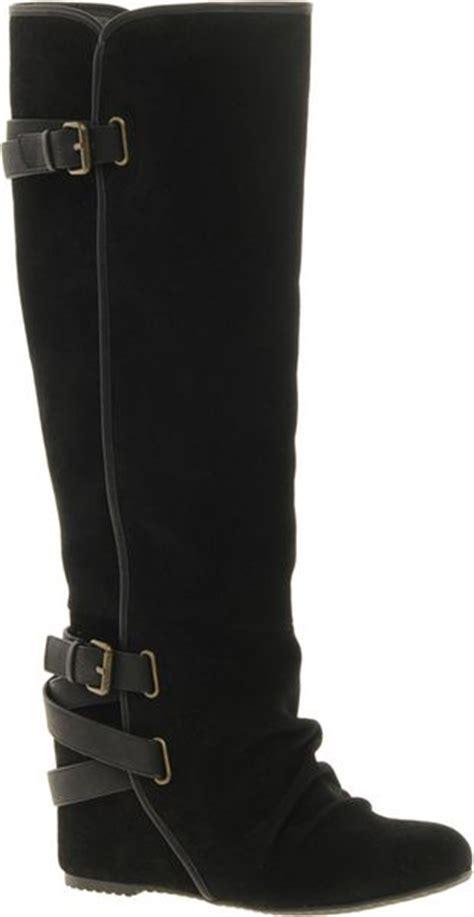 aldo caltabiano wedge knee boots in black lyst
