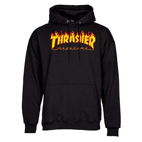 Thrasher Hoodie Black thrasher logo hoodie black thrasher hoodie