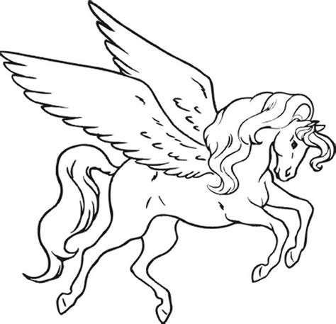 Coloring Page Unicorn With Wings unicorn coloring pages for adults bestofcoloring