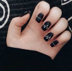 black nails girls long nails nail art nails