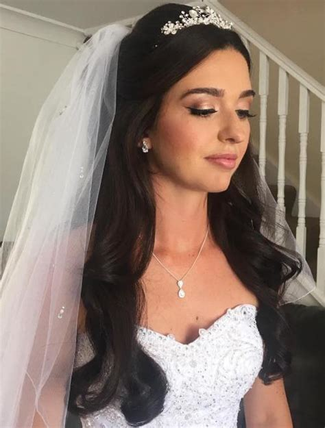 Bridal Hairstyles For Length Hair With Veil by Half Up Half Wedding Hairstyles 50 Stylish Ideas