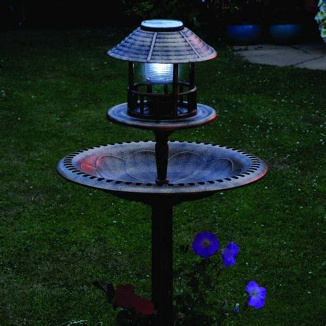 bird bath feeder with solar light and planter resin bird bath feeder with solar light and planter 105cm