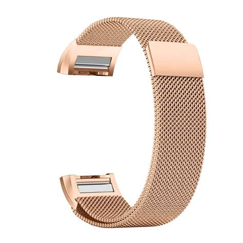 Milanese Stainless Steel Magnetic For Fitbit Charg 95koou Black milanese magnetic loop stainless steel band